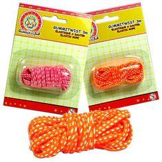 Gummi-Twist bzw. Hüpfgummi für Kinderparty, Mitgebsel o. Spiel, diverse Farben, 3 Meter €0,99
