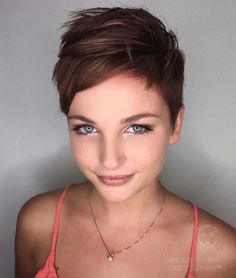 Short Choppy Side-Parted Pixie