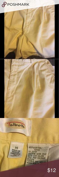 Bermuda Yellow 100% Cotton Classic Cut Shorts 🌴 Talbots Bermuda Ladies sz 16 Yellow 100% Cotton Classic Cut Shorts 🌴excellent Condition Talbots Shorts Bermudas