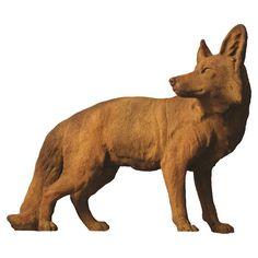 Orlandi Statuary Steady Fox Garden Statue - FS8619