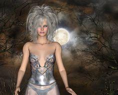 silver in moonlight