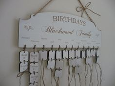 Personalised Family Birthday Reminder Wooden Plaque Board Anniversary Calendar | eBay