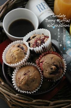 Chocolate Berry Muffins | Real Housemoms