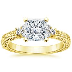 18K+Yellow+Gold+Adorned+Trio+Diamond+Ring+from+Brilliant+Earth
