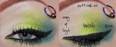 Green eyeshadow for spring or summer.  Bright and Beautiful! Love the chart for color placement!!