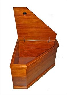 Corner Toybox   Looks just like a coffin