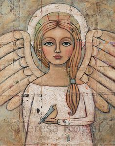 Angelic Vision 11x14 print by Teresa Kogut by cre84life on Etsy, $23.00 My very talented friend, Teresa Kogut has beautiful angels on Etsy. LOVE THESE