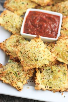 This easy recipe for crispy and baked toasted ravioli will be a new appetizer favorite! Ravioli is coated in egg and an Italian-spiced panko breadcrumb mixture and baked for a dish that's crisp and made healthier! Serve with marinara sauce.