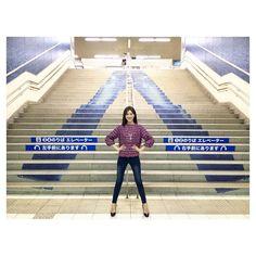 安座間美優 デニムの街 駅の階段からデニム。  #shoothing#デニムの街#BettySmith#児島#デニムと私#デニム好き#デニムlove#denim#仁王立ち#ドヤ顔