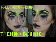 HALLOWEEN MAKEUP: TECHNO-CYBER GOTH - YouTube