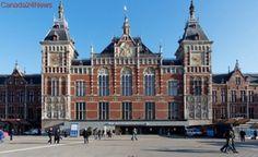 Car strikes pedestrians outside Amsterdam station, 5 injured