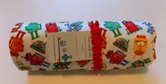 Robots/Minky Baby Changing Pad by DarlenesNeedlesnPins on Etsy