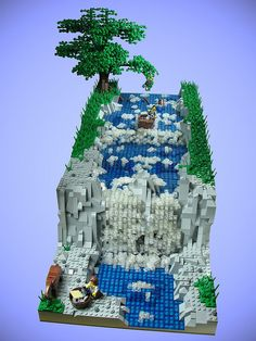 Lego rapids and waterfall. Pretty sweet!
