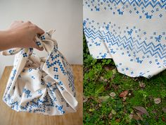 Hand printing on fabric tutorial by karen barbe
