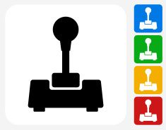 Joystick Icon Flat Graphic Design vector art illustration