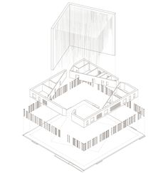 New Church in Norway Proposal / Studio BANG,exploded axonometric diagram