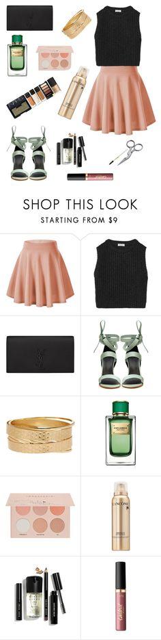 """Untitled #995"" by lexi-riney ❤ liked on Polyvore featuring Brunello Cucinelli, Yves Saint Laurent, TIBI, 14th & Union, Dolce&Gabbana, Guerriero, Lancôme, Bobbi Brown Cosmetics, tarte and Tweezerman"