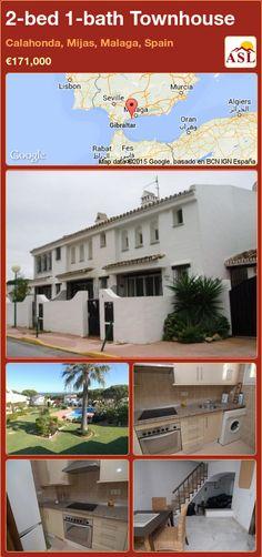 Townhouse in Calahonda, Mijas, Malaga, Spain Malaga Spain, Murcia, Seville, Lisbon, Beautiful Gardens, Townhouse, Terrace, Tourism, Coastal