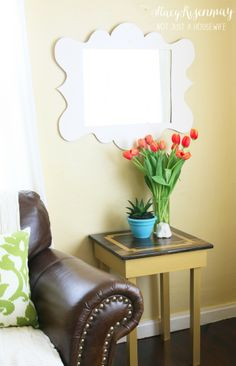 side table makeover: GOLD!