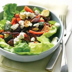 salad with goat cheese roasted vegetable salad with goat cheese ...