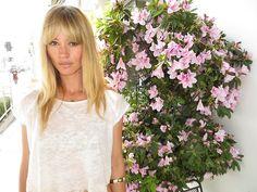 Actress Cameron Richardson and flowers on Robertson…