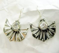 Hey, I found this really awesome Etsy listing at https://www.etsy.com/listing/189811879/womens-fan-earrings-jewelrysilverart