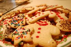 Great egg-free sugar cookie recipe!  Great to use at holiday time to allow kids to help, without worrying about raw egg ingestion!