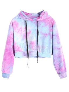 Tie Full Hooded Hoodie Cropped Tie Dye Hoodie - Cropped - Ideas of Cropped - Colormix Tie Full Short Hooded Hoodie Cropped Tie Dye Hoodie Cute Lazy Outfits, Teenage Outfits, Crop Top Outfits, Outfits For Teens, Trendy Outfits, Teenage Girl Clothes, Teenage Clothing, Women's Clothing, Summer Outfits