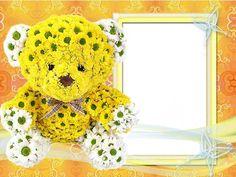 С любовью - рамка для фото в желтых тонах