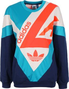 Adidas Archive W sweater blue white neon