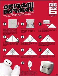 Big Hero 6 - Origami Baymax Craft