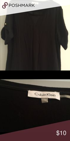 Short sleeve blouse This is an easy top for work or casual Calvin Klein Tops Blouses