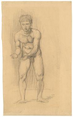 Hans von Marees - Nude Study of a Wrestler