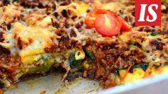 Maukas vähähiilihydraattinen jauhelihavuoka valmistuu grillatuista kasviksista ja jauhelihasta. Diet Recipes, Recipies, Healthy Recipes, Healthy Food, Some Recipe, Fodmap, Vegetable Pizza, Quiche, Paleo