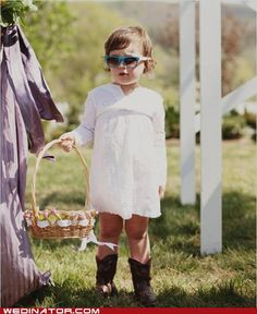 white dress and cowboy boots