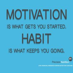 It's becoming a Habit for me to motivate myself because if I wait on others I will never make this a Habit...........