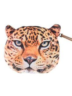 Designer Clothes, Shoes & Bags for Women Leopard Bag, Coin Purse Wallet, Pouch, Angry Cat, Leopard Pattern, Wallets For Women, Coins, Super Cute, White Bags