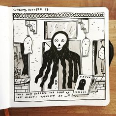 Thanks to everyone who made it out to LIGHTS OUT at @paperghoststudio last night!  #sketchbook #paperghoststudio by mikelowerystudio