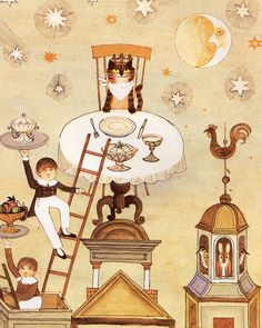 A Visit to William Blake's Inn: The King of Cats | illustration by Alice & Martin Provensen