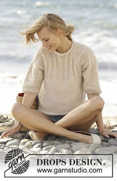Enigma jumper with raglan and rib on yoke by DROPS Design Free Knitting Pattern
