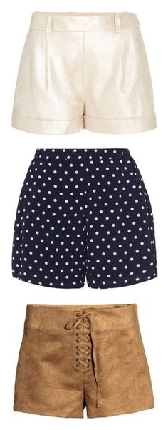 """""""shorts"""" by loves-elephants ❤ liked on Polyvore featuring shorts, bottoms, pants, short, gold, tailored, pleated shorts, cuffed shorts, diane von furstenberg and cuff shorts"""