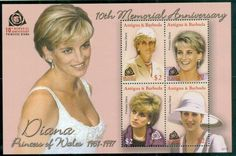 Antigua & Barbuda 2007 Princess Diana in Memoriam, 10th Anniv., Lovely Lady Diana MS MUH