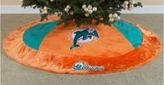 "NFL Football Miami Dolphins Christmas Tree Skirt 54"" Diameter"