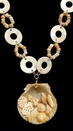 Necklace made from seashells