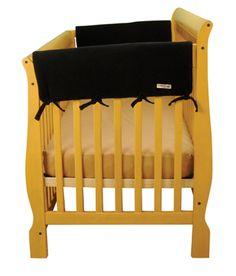 Trend Lab - Cribwrap Wide Rail Cover - Short Black Fleece