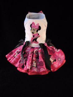 Minnie Mouse Dog Dress XS _#HandMadebyKim_ Facebook - Kim's Posh Pets