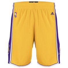 adidas Los Angeles Lakers Youth Swingman Shorts - Gold