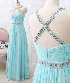 Chiffon Evening Dresses, A Line Prom Dresses, Formal Dresses For Women, Homecoming Dresses, Graduation Dresses, Prom Gowns, Long Dresses, Aqua Prom Dress, Aqua Dresses