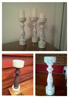 Recycled candlesticks