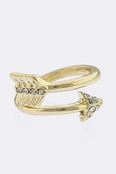 Arrow Above The Knuckle Midi Ring from STREET STYLE FASHION